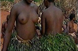 Ebony Black Colored Farbig Eb Bushman Flappy Tits