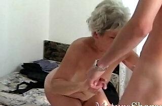 Mature female gets cock