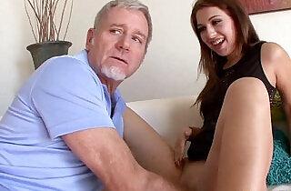 Step dad feeds horny ariana grand his big cock