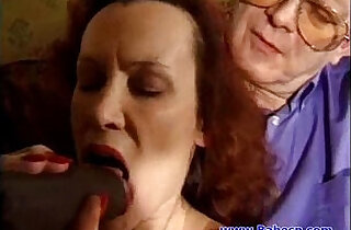 British Mature with two cocks fucking