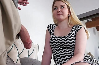 Sophie Sativa bends over for a dad drilling doggystyle