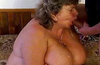 Crazy old mom gets cock