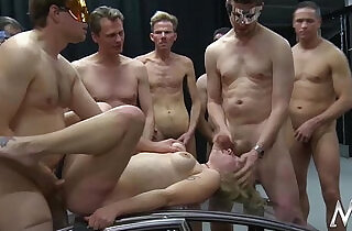 MMV FILMS German Gangbang in a cage