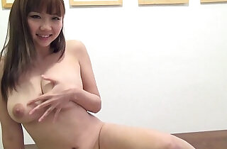Busty, hot Japanese girl in playsuit toys