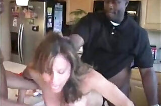 Wende wife forced by blacks in kitchen