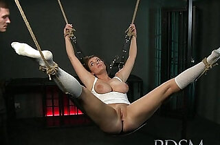 BDSM XXX Beautiful girls are Shackled before pleasing their Masters