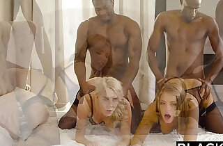 BLACKED Adriana Chechik and Cadence Lux First interracial Foursome