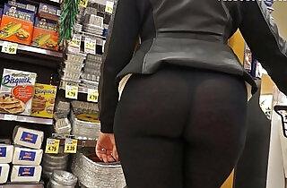 See through leggings visible thong booty 25