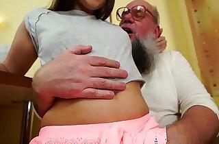 Nasty grandpa fucks Liza Shay