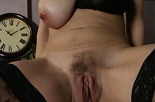 Horny old mom sucking cock and getting
