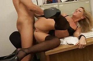 Blonde amateur MILF wearing high heels does anal