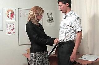 Russian mature teacher Katerina
