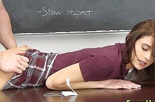 Cum sprayed uniform slut