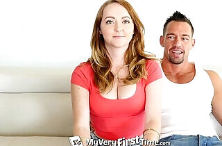 MyVeryFirstTime Redhead Leigh Rose gets ready for first hard anal with facial