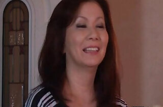 Sexy horny Japanese mature mom
