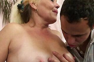 Blonde gets her hairy wet pussy slammed