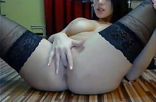 ninja girl masturbates on webcam