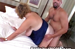 Chubby Mom Takes on a Black monster Cock in Interracial Video