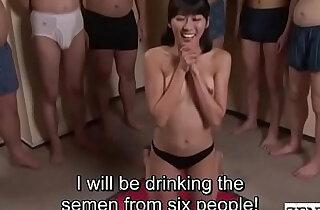 JAV cum drinking gokkun blowjob party Misaki Oishi Subtitled