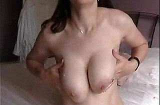 Handjob make guy cum on redhead fat tits
