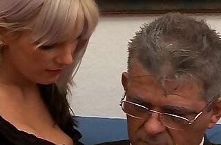 Daddy fucks his cute daughter on sofa