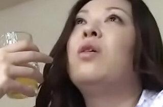 Japanese Asian Mom and Son drunken Hard deep anal Fuck