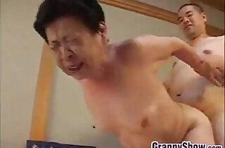 Japanese Grandma Giving Great Blowjob