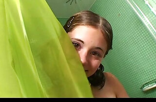 Little caprice fucking in the shower for cum
