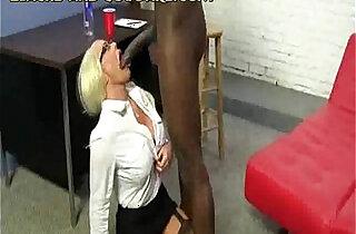Big Black Bull for Hot Blonde Cougar