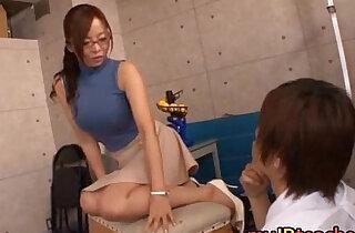 Kaori Hot Asian teacher enjoys sex