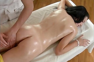 Brunette fucking after massage