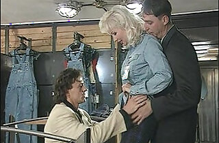 Big Boobs Blonde Beauty in Lingerie Hard Anal DP, MILF, Helen Duval