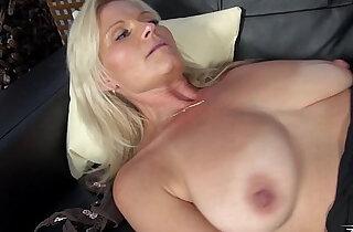 Very horny blonde MILF like Mom his stepson on fake casting