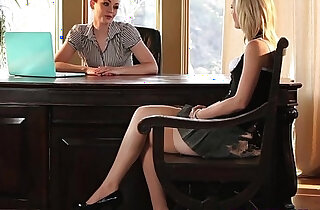 Young lesbian pussy for a job