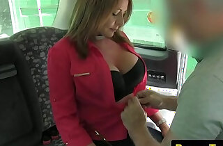 Busty fucked by taxi driver