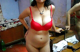 Bengali Indian Sexy Savita In Red Lingerie