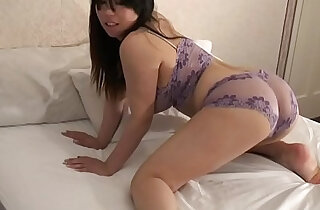 Femorg Big Boobed Curvy Asian in Lingerie Masturbates Shaved Twat