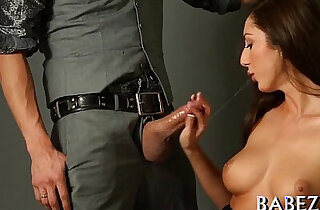 Big arse playgirl jumps on cock