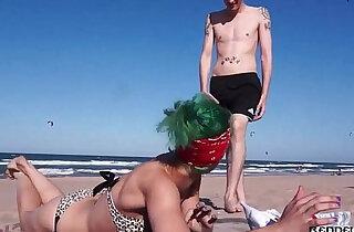 Punk slut getting fucked on the beach Brandy Moloka