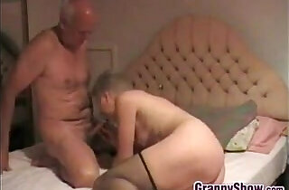 Grandma Giving Her Man A Great Blowjob