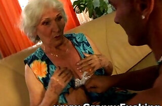 Mature granny getting her ass fucked by a large black cock