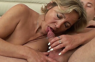 A Mature Beauty In Stockings gets Fucked By Stepson