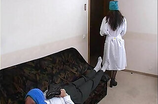 Young horny nurse fucking older patient